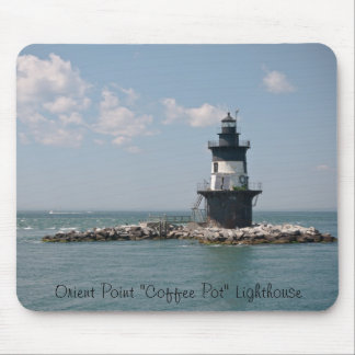 "Orient Point ""Coffee Pot"" Lighthouse Mouse Pad"