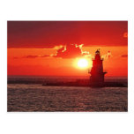 Orient Point Light at Sunset Post Cards