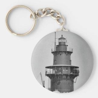 Orient Point Lighthouse Basic Round Button Keychain