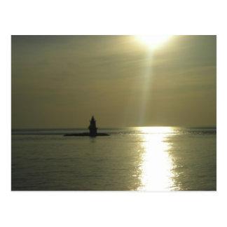 Orient Point Lighthouse Sunset 1 Postcard