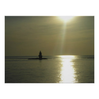 Orient Point Lighthouse Sunset 1 Poster