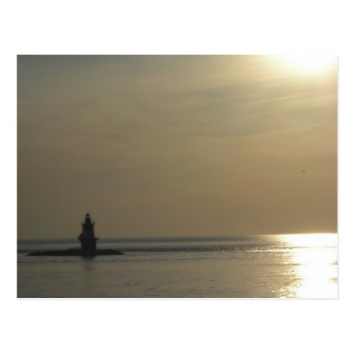 Orient Point Lighthouse Sunset 2 Postcard