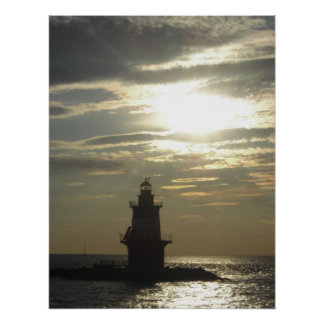Orient Point Lighthouse Sunset 3 Poster