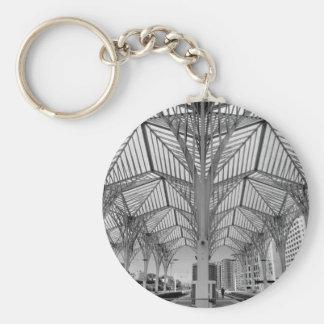 Orient train station in Lisbon Basic Round Button Keychain