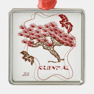 Oriental 2011 metal ornament