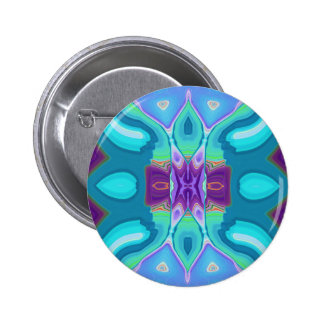 oriental abstract turquoise purple butterfly pinback buttons