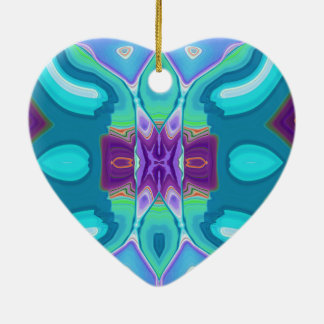 oriental abstract turquoise purple butterfly ceramic ornament