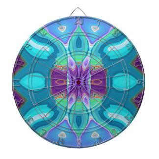 oriental abstract turquoise purple butterfly dart boards