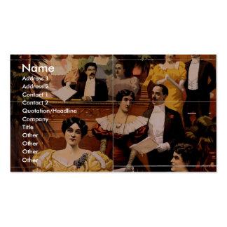 Oriental America, 'Operatic Celebrities' Vintage T Business Cards