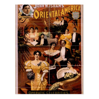 Oriental America Operatic Celebrities Vintage T Postcards
