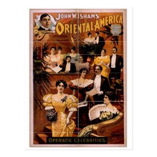 Oriental America Operatic Celebrities Vintage T Post Cards