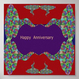 Oriental Arts Lips -  Happy Anniversary Posters
