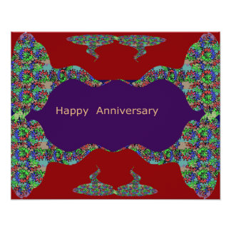 Oriental Arts Lips -  Happy Anniversary Print