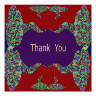 Oriental Arts Lips -  Thank You Posters