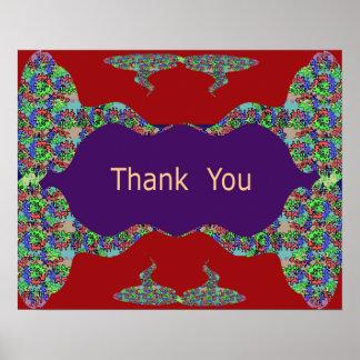 Oriental Arts Lips -  Thank You Print