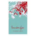 Oriental Asian Bamboo Leaves Tree Modern Zen Spa Double-Sided Standard Business Cards (Pack Of 100)