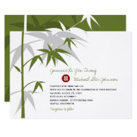 Oriental Asian Bamboo Tree Chinese Wedding Invite