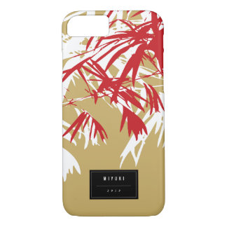 Oriental Asian Chinese Red Bamboo Leaves Zen Case