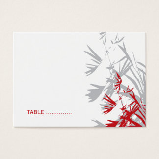 Oriental Bamboo Leaves Wedding Guest Place Card