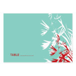 Oriental Bamboo Leaves Wedding Guest Place Card Business Card