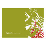 Oriental Bamboo Leaves Wedding Guest Place Card Business Cards