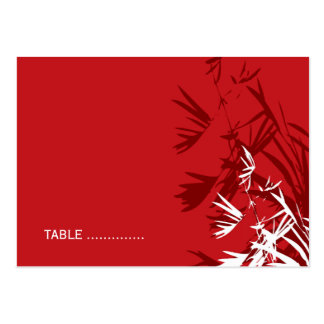 Oriental Bamboo Leaves Wedding Guest Place Card Business Card Templates