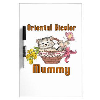 Oriental Bicolor Cat Mom Dry-Erase Board