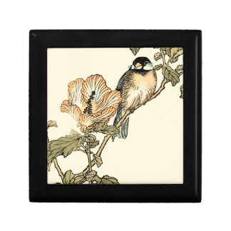 Oriental Bird Perched on Branch Jewelry Box
