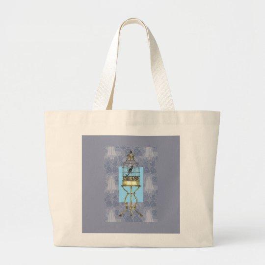 Oriental Birdcage Large Tote Bag