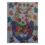oriental blossom,by mandy ashbyposter print