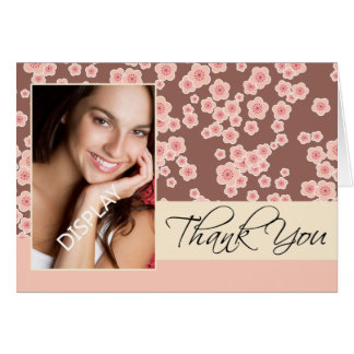 Oriental Blossom  Graduation Photo Thank You Card