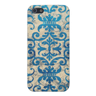 Oriental Blue Damask Cover For iPhone 5