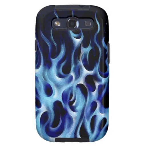 Oriental Blue Flames Galaxy S3 Covers