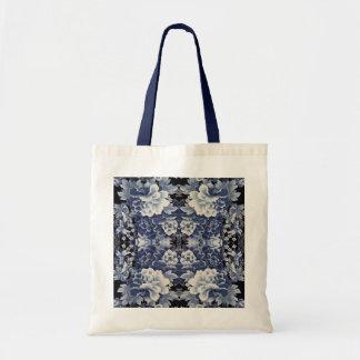 Oriental Blue Tote Bags
