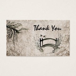 Oriental Bridge Thank You Business Card