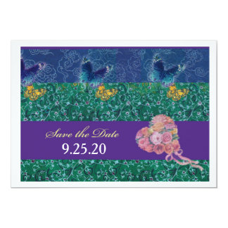 Oriental Butterfly illustrated bouquet STD Card