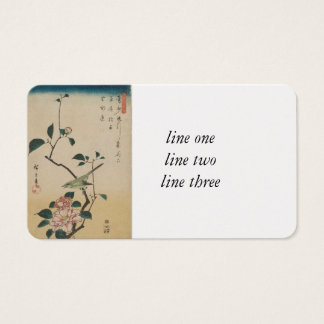 Oriental Camelia and Bush Warbler Business Card