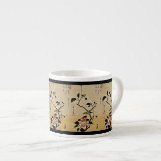 Oriental Camelia and Bush Warbler Espresso Cup