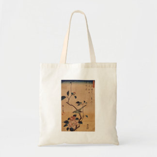 Oriental Camellia and Warbler Canvas Bags