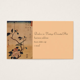 Oriental Camellia and Warbler Business Card