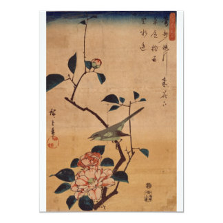 Oriental Camellia and Warbler Card