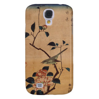 Oriental Camellia and Warbler Galaxy S4 Cover