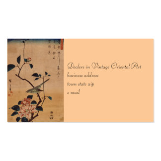 Oriental Camellia and Warbler Double-Sided Standard Business Cards (Pack Of 100)
