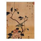 Oriental Camellia and Warbler Postcard