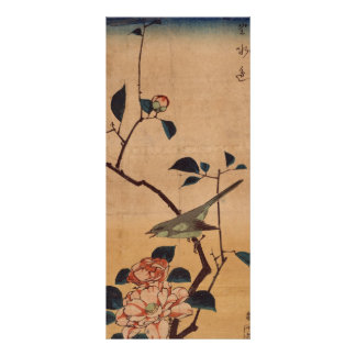 Oriental Camellia and Warbler Rack Card