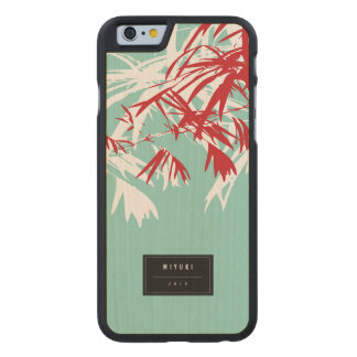 Oriental Chic Modern Zen Red Bamboo Leaves Case