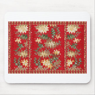 Oriental Chinese Red waves Silken Fabric Textures Mouse Pad