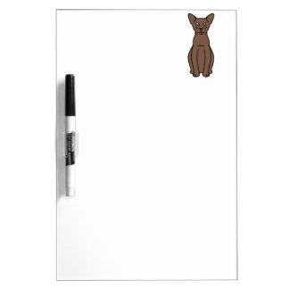 Oriental Cinnamon & Fawn Cat Cartoon Dry-Erase Board