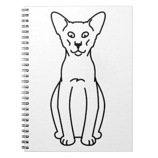 Oriental Cinnamon & Fawn Cat Cartoon Notebooks