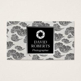 Oriental Cloud Pattern Modern Photographer Business Card